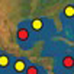 Map of hydrates in the Gulf of Mexico
