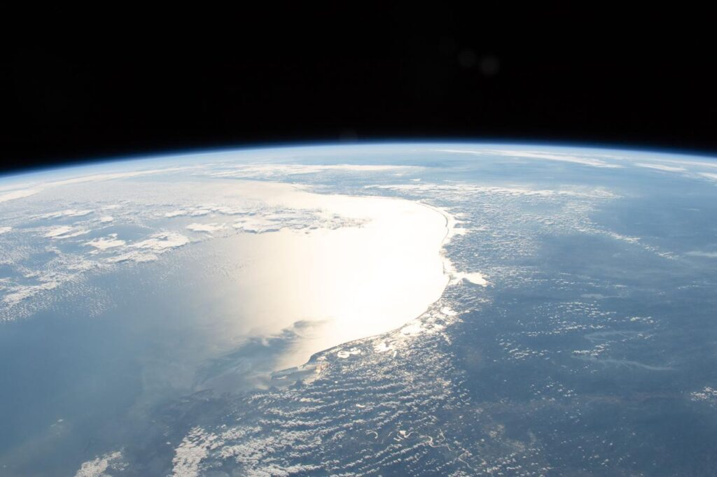 The Earth from orbit showing the Gulf of Mexico